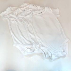 Set of 4 Carter's plain white onesies